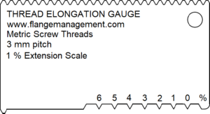 Thread Elongation Gauge 1% Scale DIN