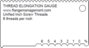 Thread Elongation Gauge 1% Scale ASME